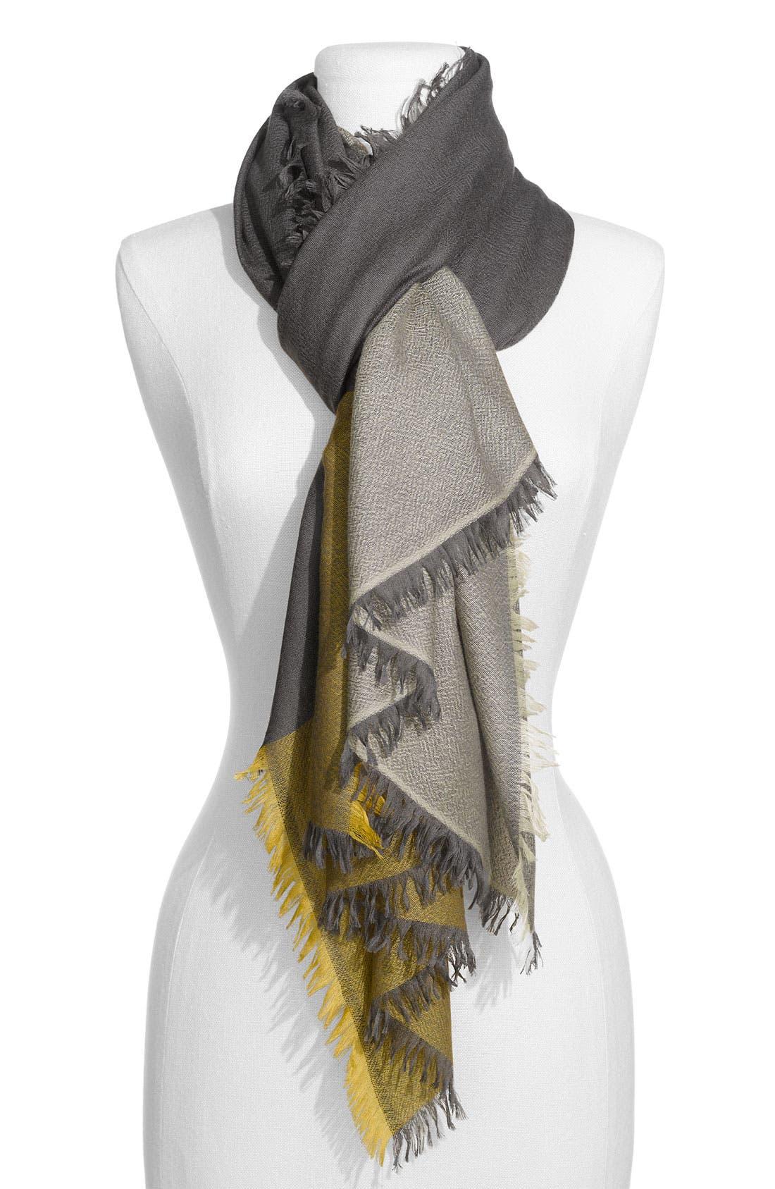 ,                             'Eyelash' Colorblock Cashmere Wrap,                             Main thumbnail 12, color,                             022