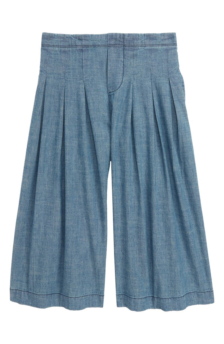 STEM Pleated Chambray Pants, Main, color, BLUE MINERAL WASH