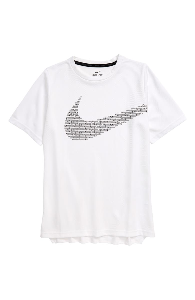 NIKE Dry Statement Performance Shirt, Main, color, WHITE/ BLACK