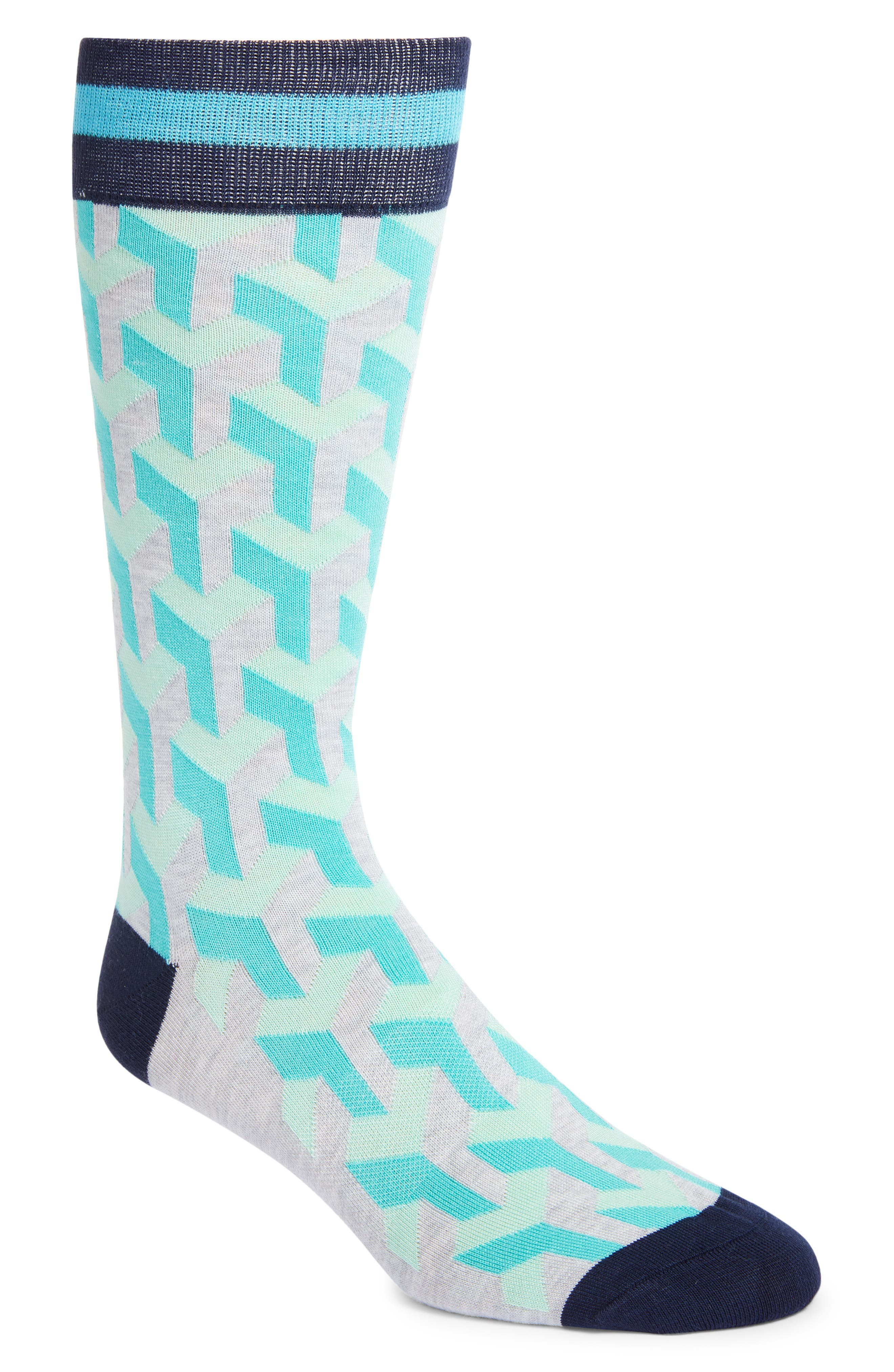 Men's Fun Socks Geo Pattern Socks