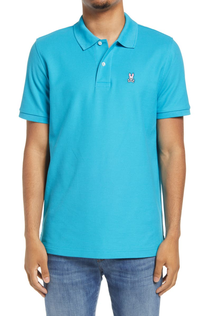 PSYCHO BUNNY Classic Short Sleeve Pima Cotton Polo, Main, color, 470