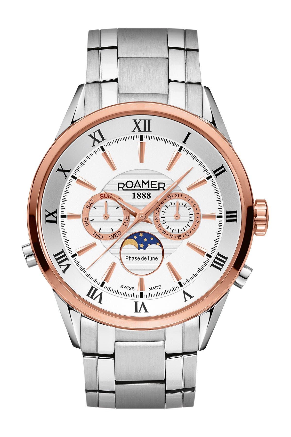 Image of Roamer Men's Superior Moonphase Two-Tone Bracelet Watch