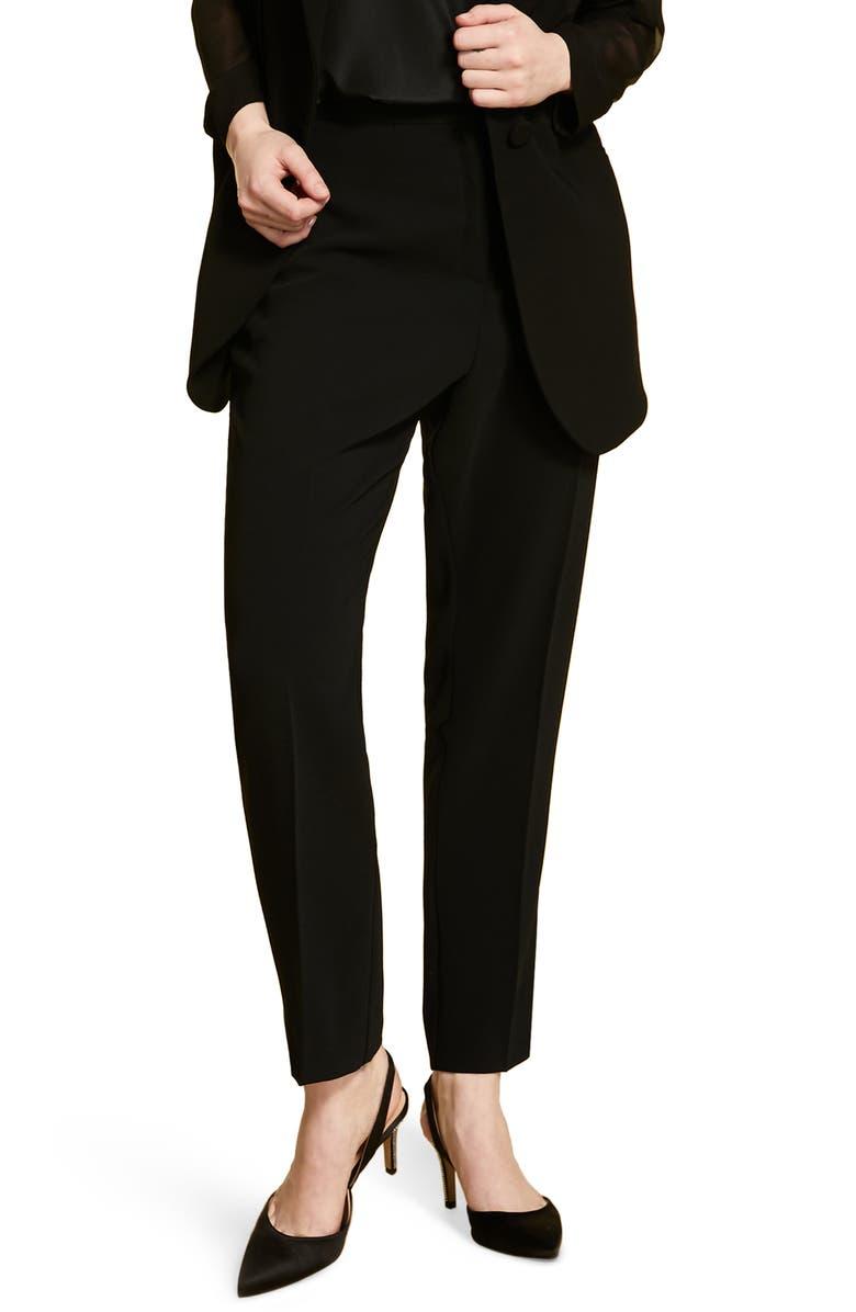 MARINA RINALDI Raro Slim Crepe Pants, Main, color, 001
