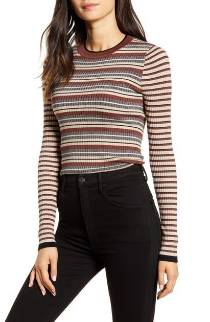 Bailey44 Sweaters COURTNEY METALLIC STRIPE SWEATER