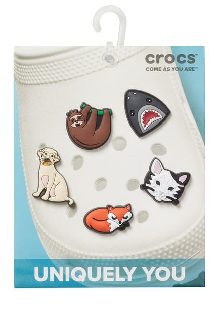 Image of Crocs Jibbitz Animal Lover Shoe Charms - Pack of 5