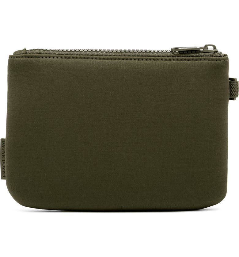 DAGNE DOVER Scout Small Zip Top Pouch, Main, color, DARK MOSS