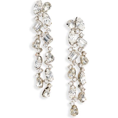 Cristabelle Crystal Multishaped Linear Drop Earrings