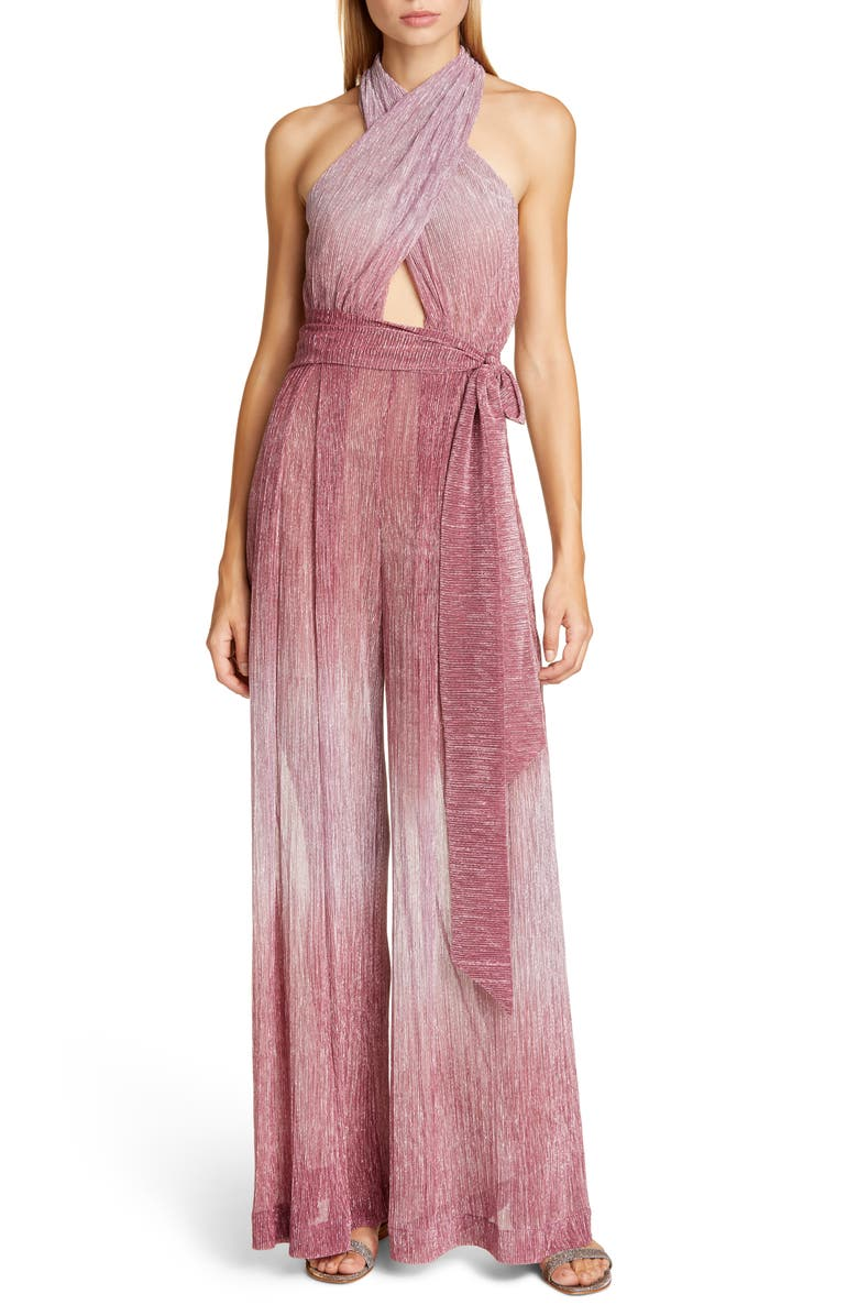 PATBO Wrap Halter Jumpsuit, Main, color, LIGHT ORCHID
