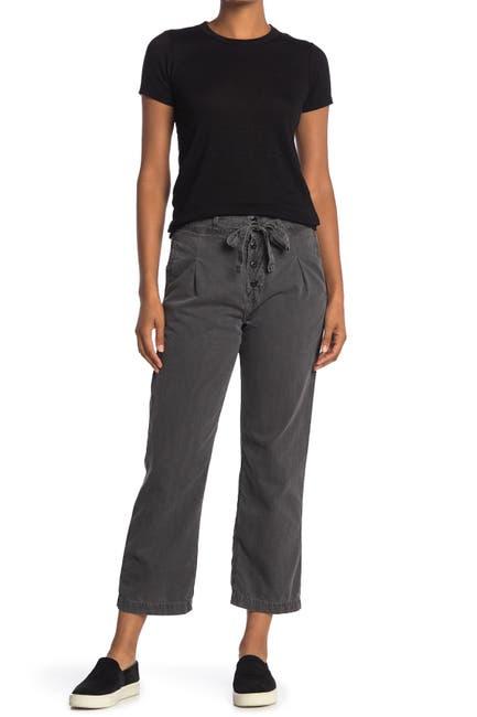 Image of NSF CLOTHING Keiko Tie Waist Crop Pleated Pants