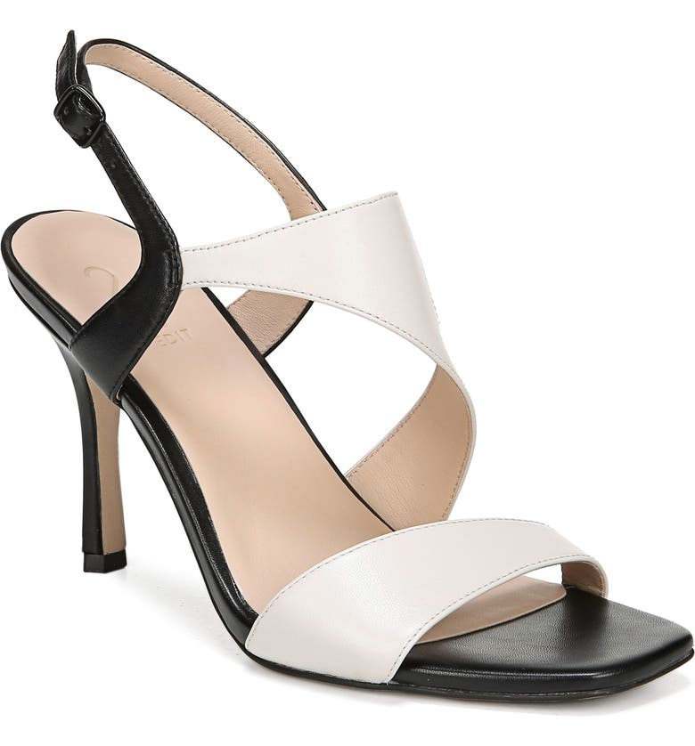 27 EDIT Lanie Sandal, Main, color, ALABASTER/ BLACK LEATHER