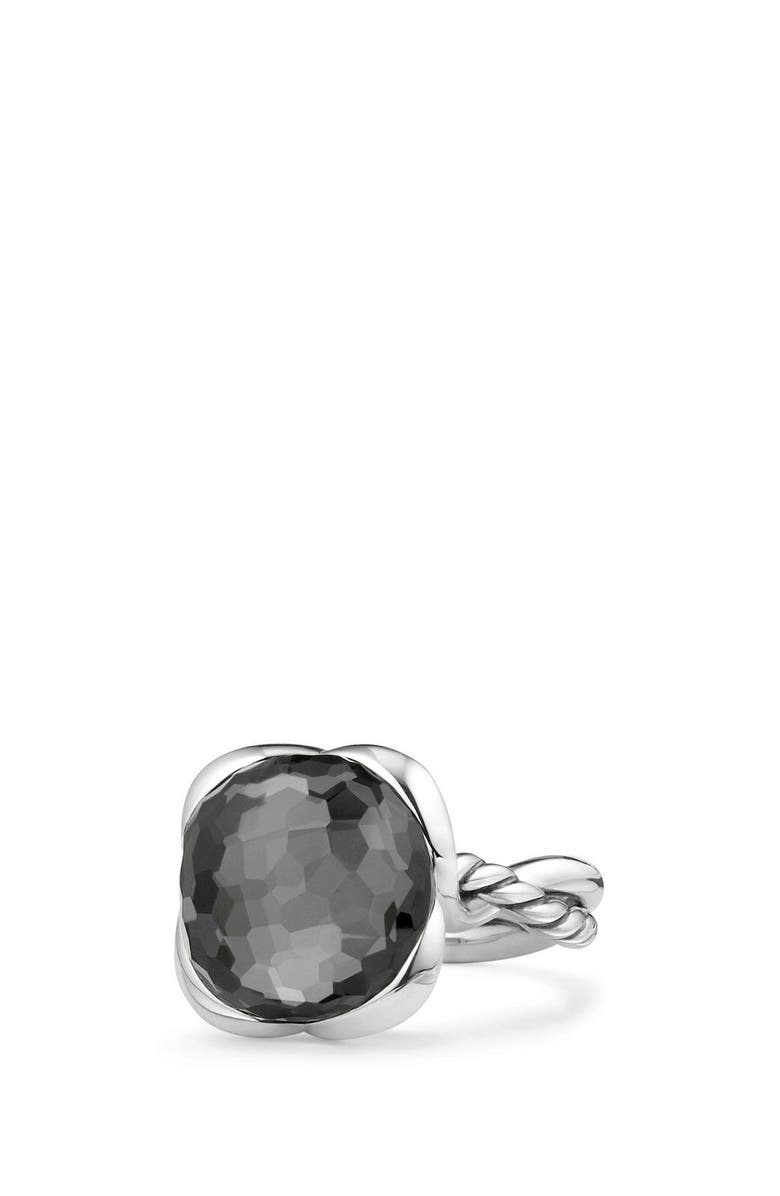 DAVID YURMAN Continuance Ring, Main, color, HEMATITE/ CRYSTAL