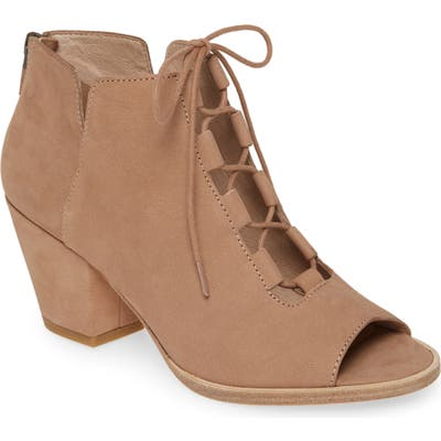 Eileen Fisher Fallon Open Toe Bootie- Beige