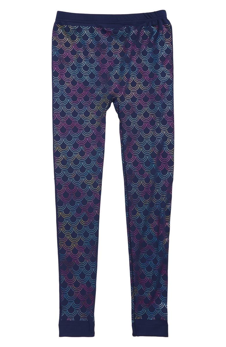 CAPELLI NEW YORK Mermaid Dots Print Leggings, Main, color, 410