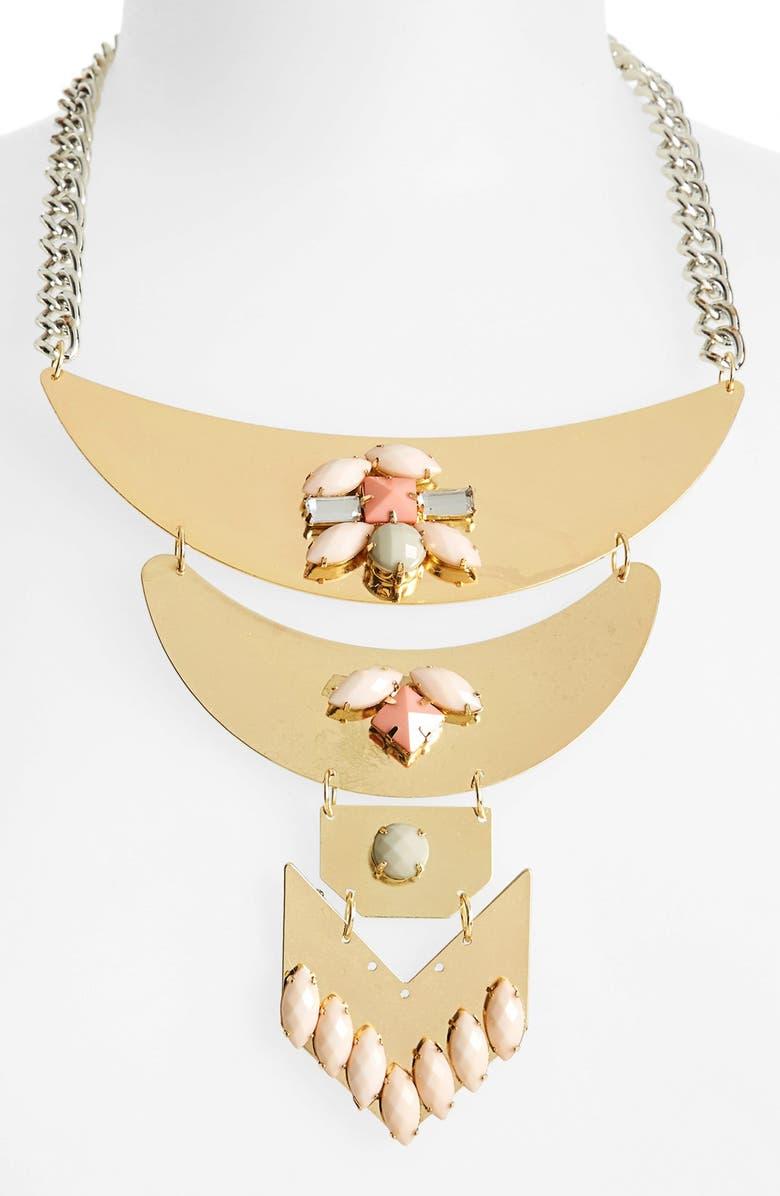 TOPSHOP Embellished Statement Necklace, Main, color, 650