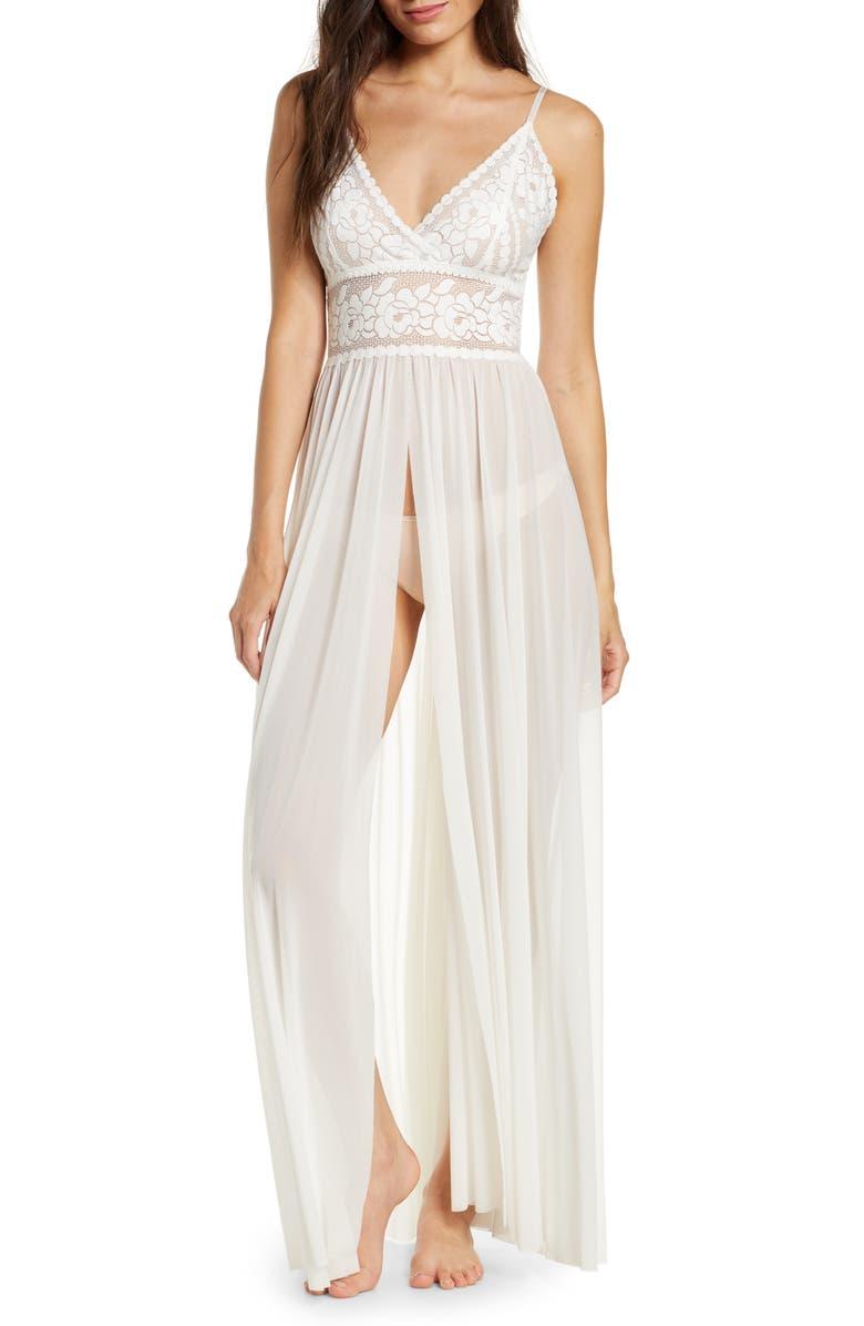 HANKY PANKY x Lindsi Lane Beach Mode Maxi Cover-Up Dress, Main, color, OFF WHITE
