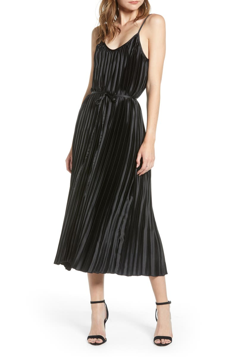 BISHOP + YOUNG Mara Midi Dress, Main, color, 001