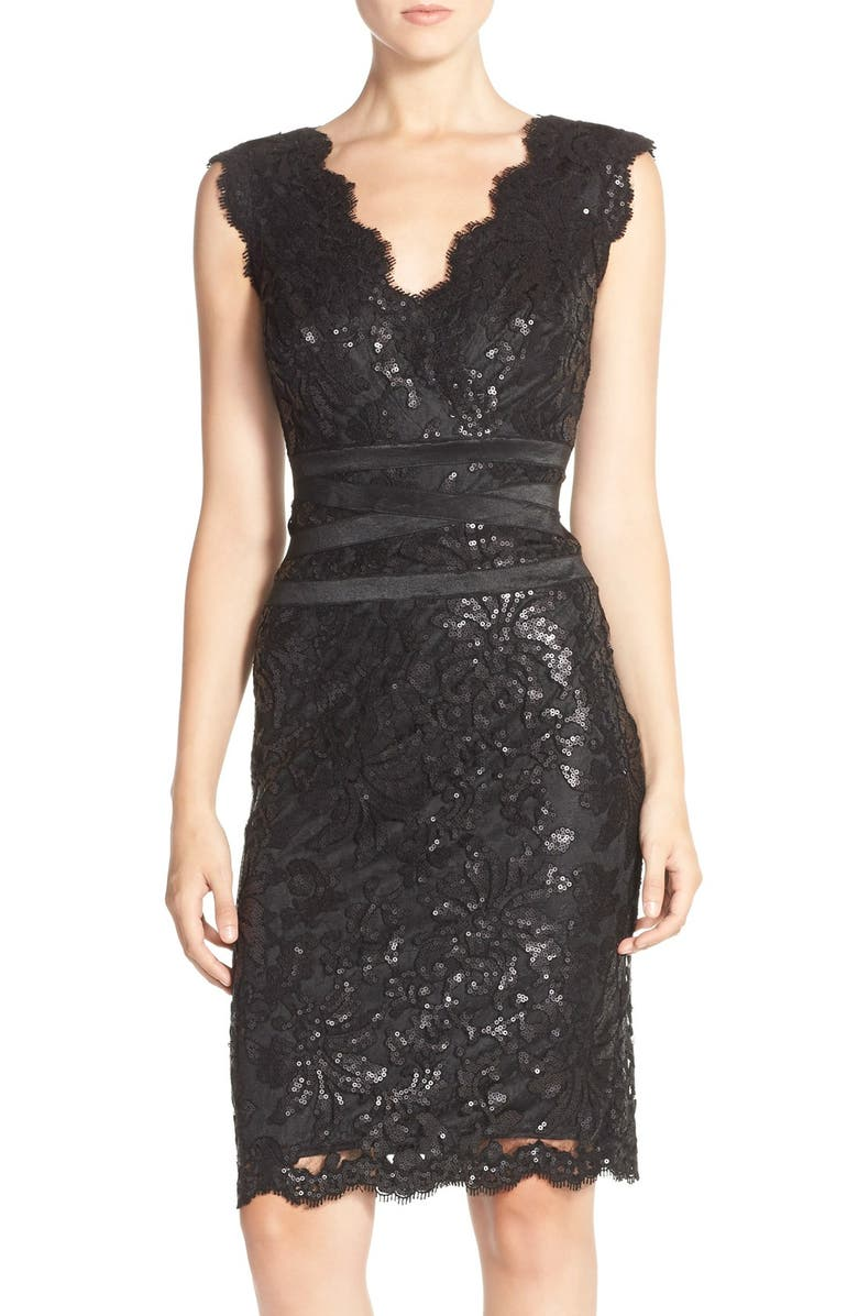 64f898c2 Tadashi Shoji Sequin Lace Sheath Dress (Regular & Petite) | Nordstrom