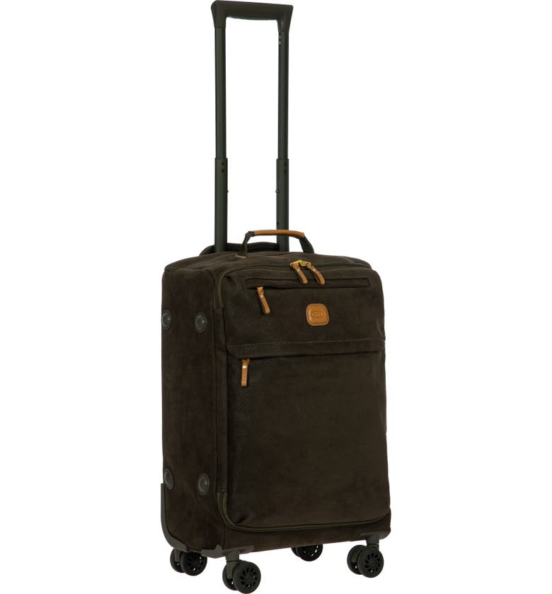 BRIC'S Life Collection Tropea 22-Inch Spinner Carry-On, Main, color, OLIVE