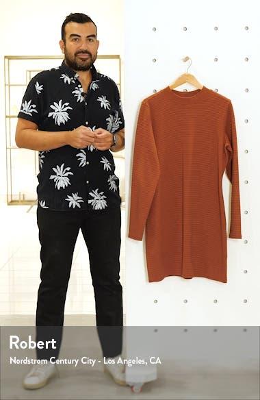 Stripe Ribbed Long Sleeve Minidress, sales video thumbnail