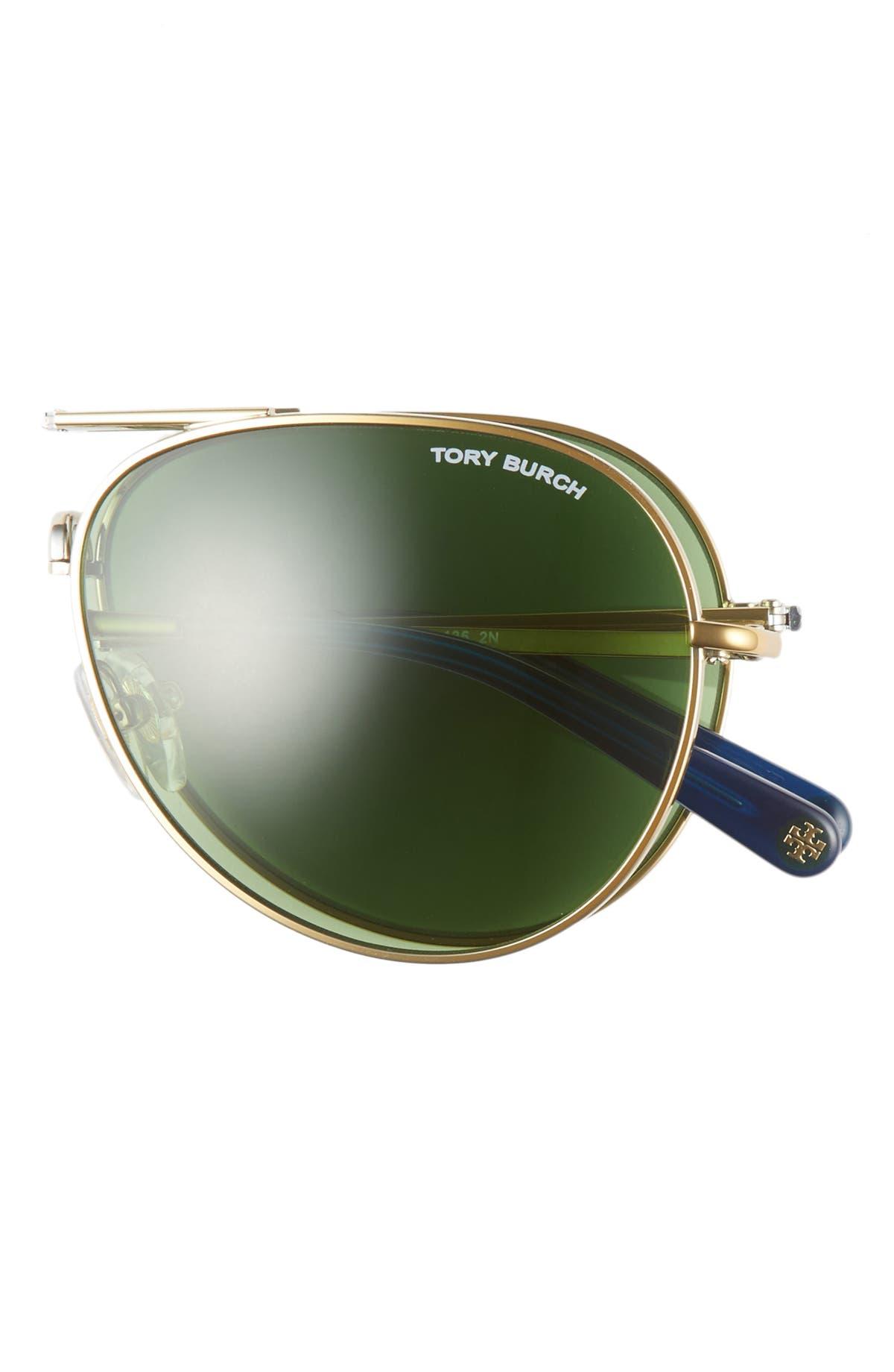 e06220decafa Tory Burch 58mm Foldable Aviator Sunglasses | Nordstrom