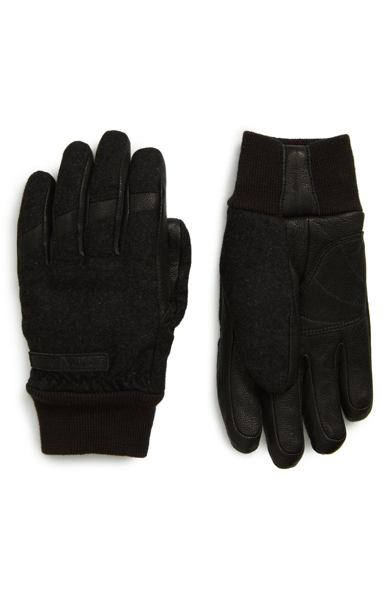 CANADA GOOSE Waterproof Down Gloves, Main, color, BLACK HEATHER