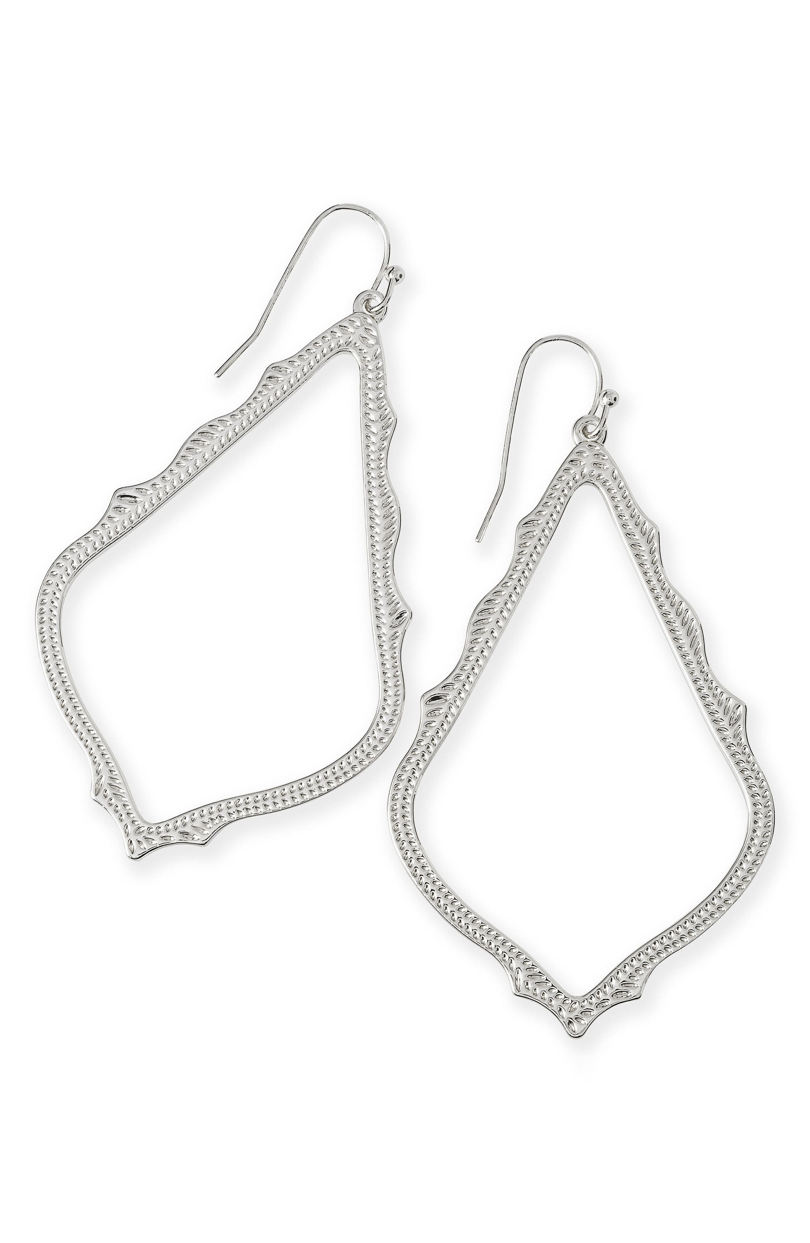 ,                             Sophee Textured Drop Earrings,                             Alternate thumbnail 2, color,                             SILVER