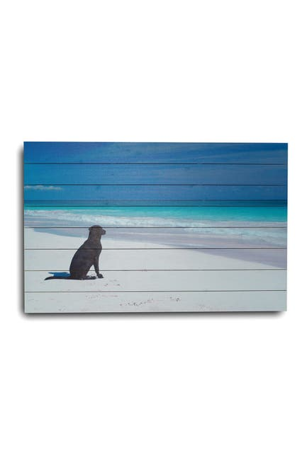 """Image of Gallery 57 Dog on Beach Wooden Wall Art - 36"""" x 24"""""""
