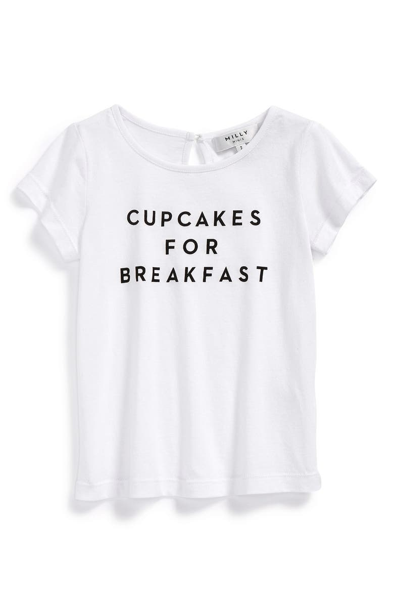 e37d3ee309 Milly Minis 'Cupcakes for Breakfast' Tee (Little Girls & Big Girls ...