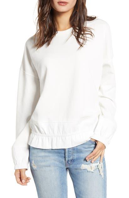 English Factory Blouson Sweatshirt In Ivory