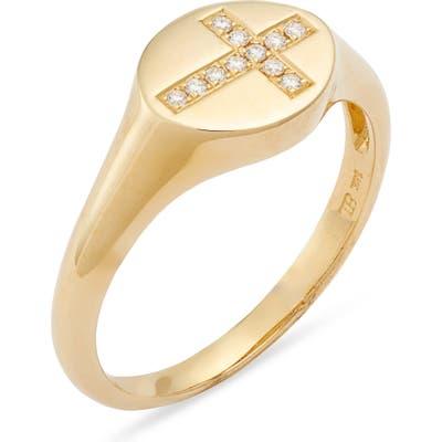 Bony Levy Icons Diamond Cross Signet Ring (Nordstrom Exclusive)