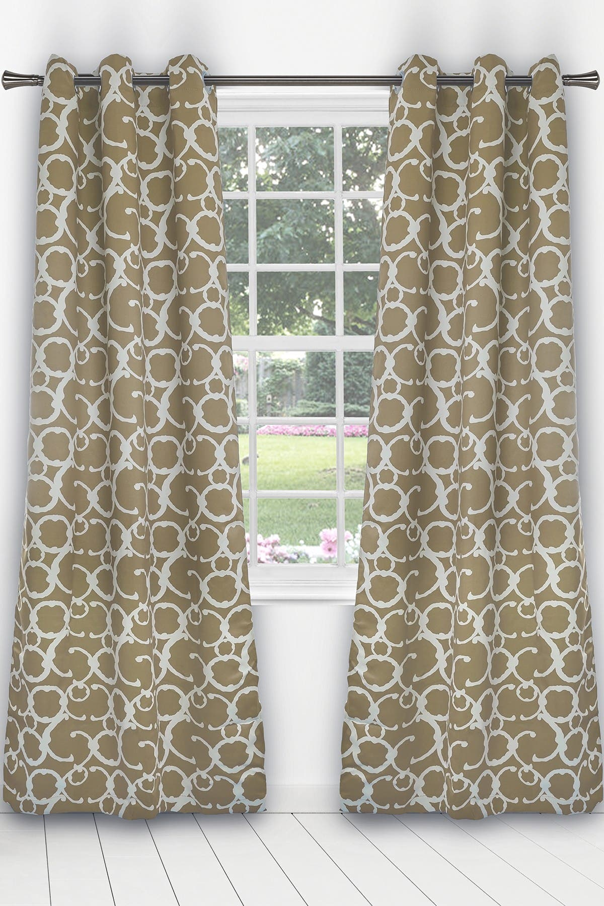 Image of Duck River Textile Rhys Blackout Grommet Panel Curtains - Set of 2 - Taupe
