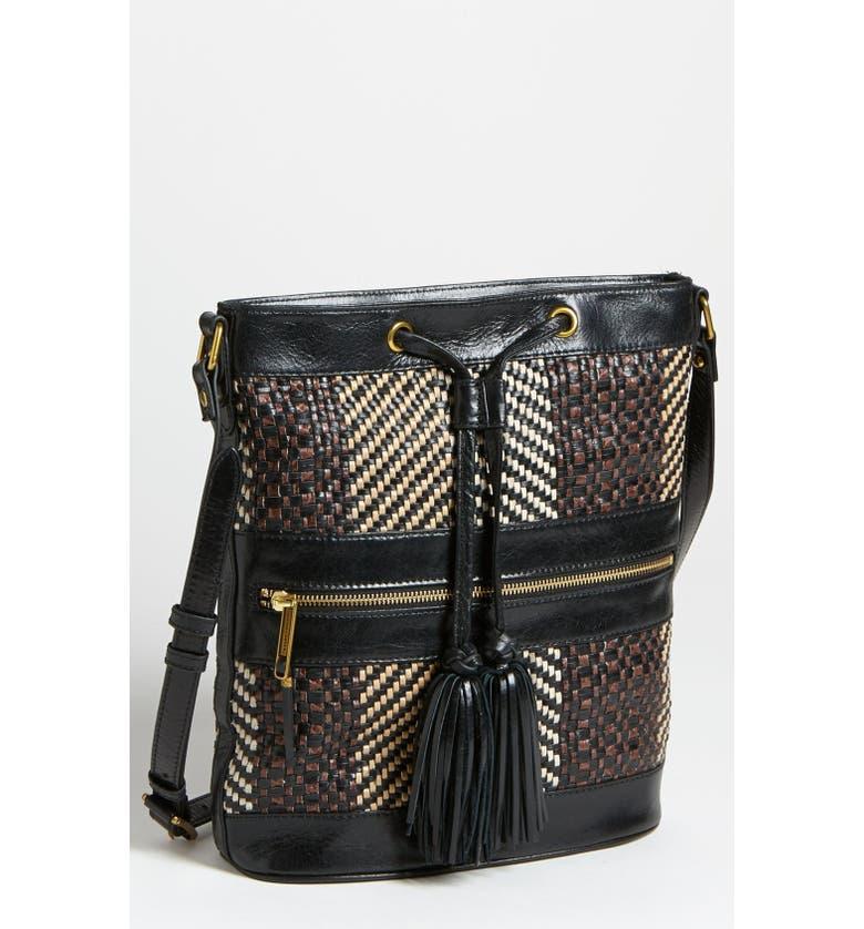 ELLIOTT LUCCA 'Bali Original' Bucket Bag, Main, color, RATTAN NEUTRAL MULTI
