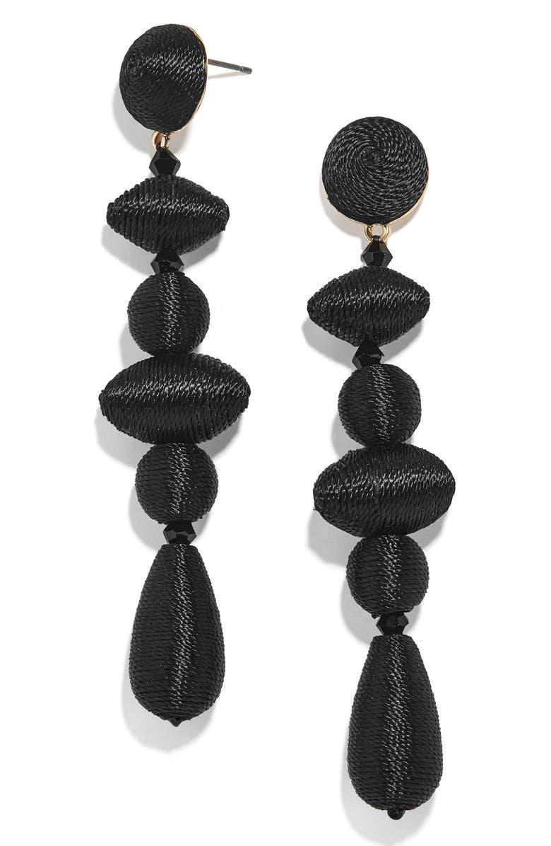 BAUBLEBAR Harlequin Drop Earrings, Main, color, BLACK