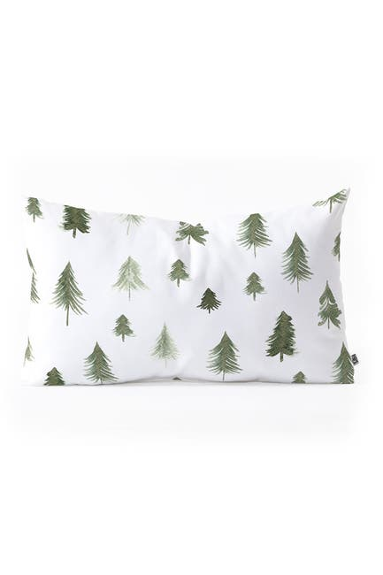 Image of Deny Designs Gabriela Fuente Winter Forest Oblong Throw Pillow