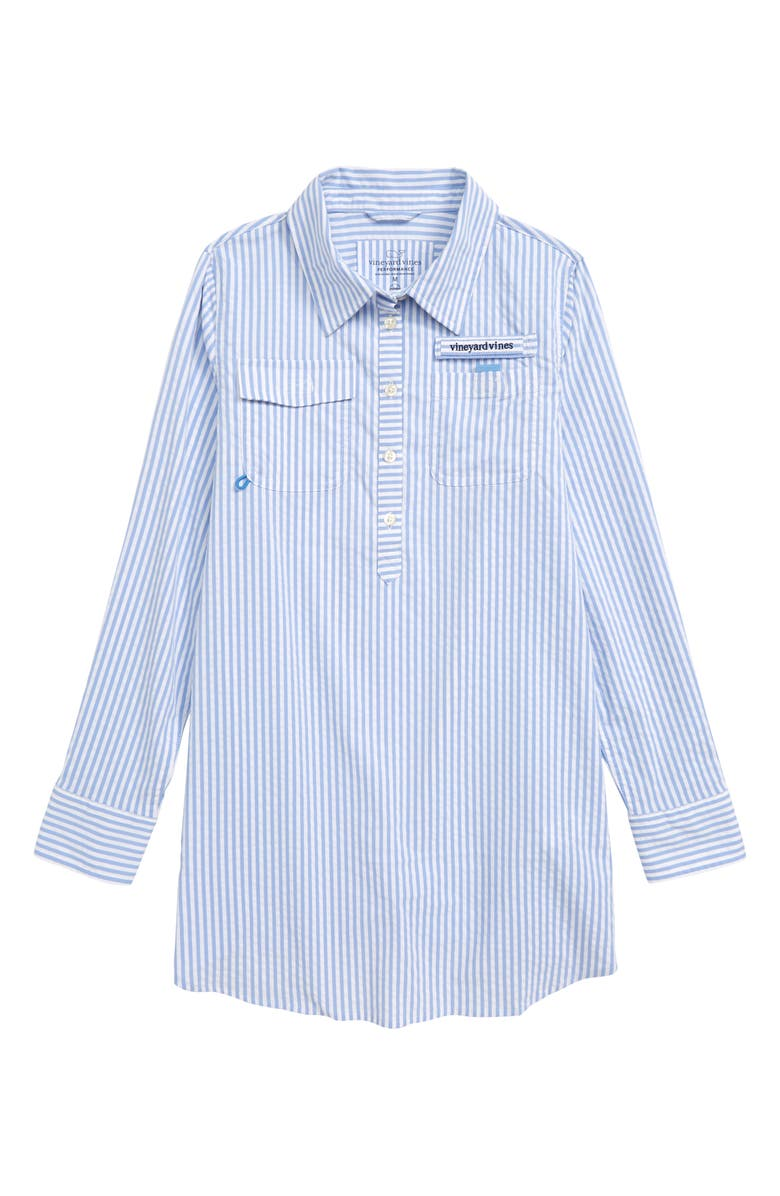 VINEYARD VINES Harbor Cover-Up Shirtdress, Main, color, 464