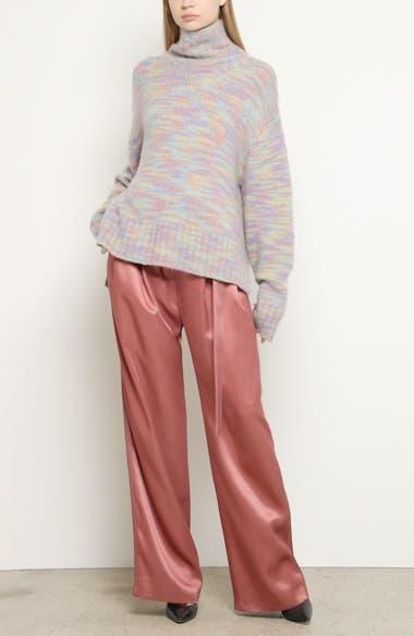 Yuki Multicolor Wool & Silk Turtleneck Sweater, video thumbnail