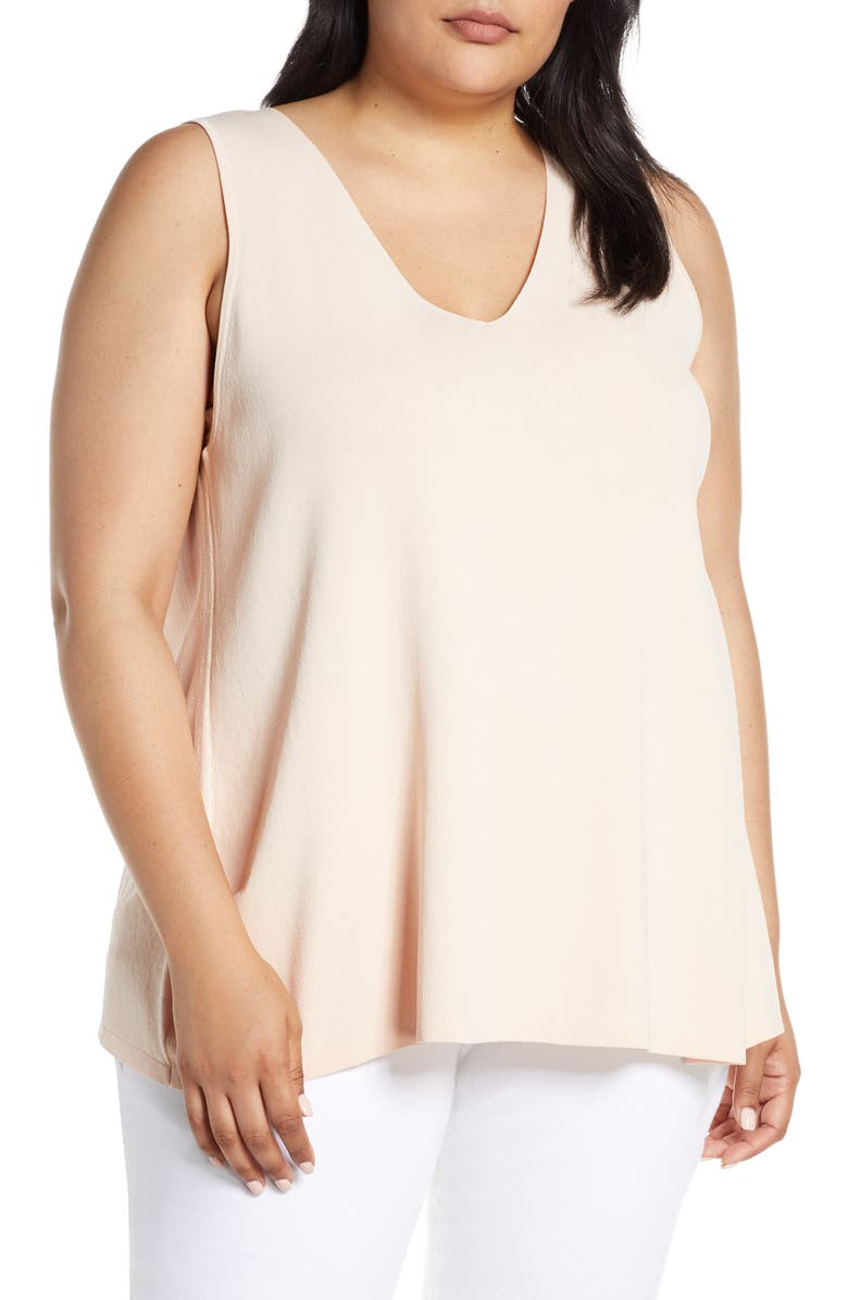 RACHEL ROY COLLECTION V-Neck Knit Swing Top, Main, color, BLUSH