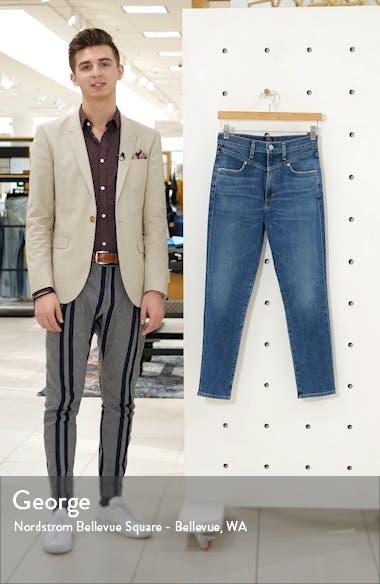 Mia Front Yoke High Waist Ankle Slim Jeans, sales video thumbnail