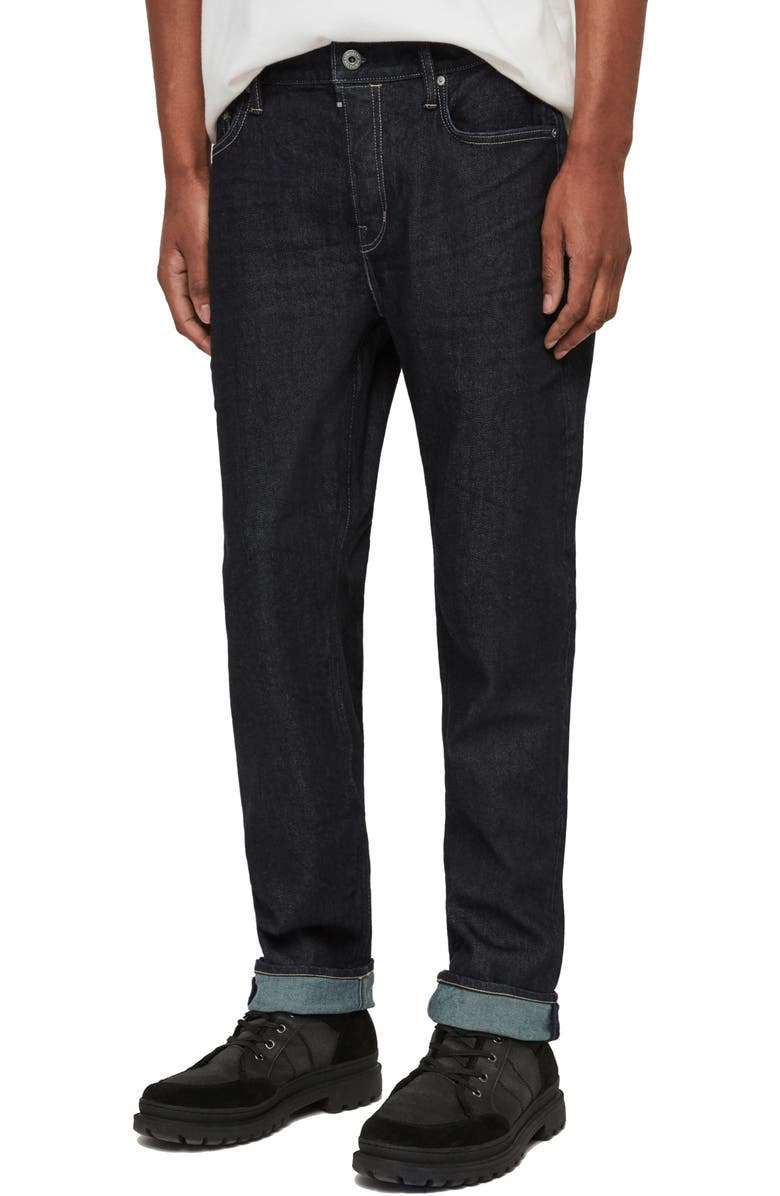 ALLSAINTS Carter Slim Fit Jeans, Main, color, DARK INDIGO BLUE