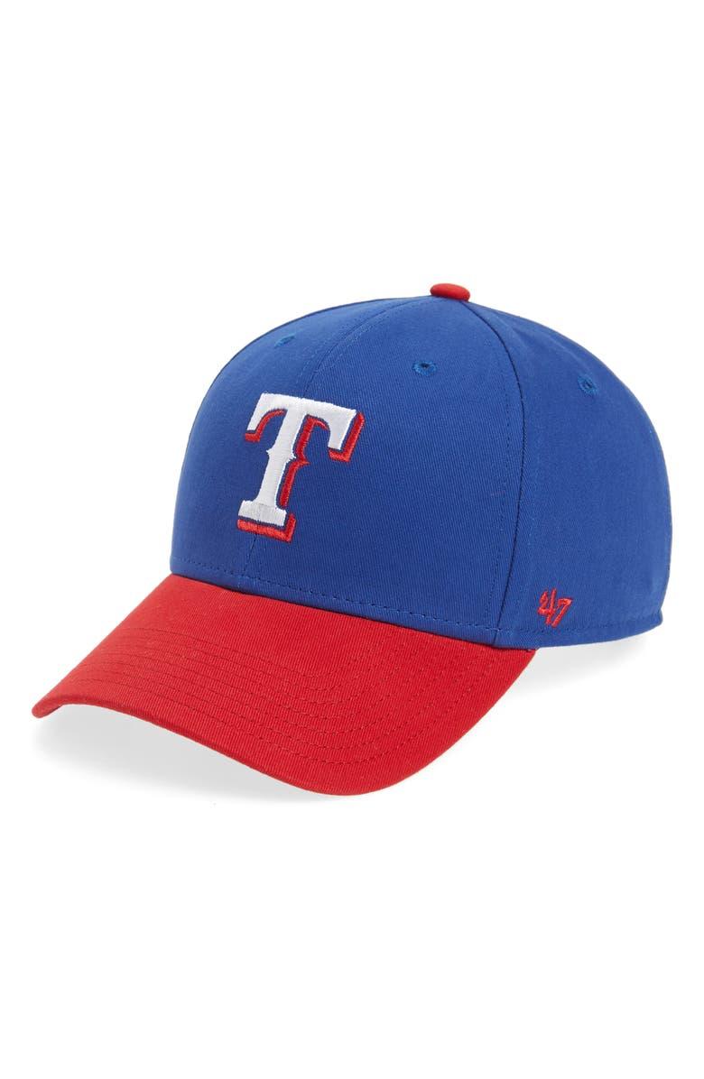 '47 Texas Rangers Baseball Cap, Main, color, BLUE