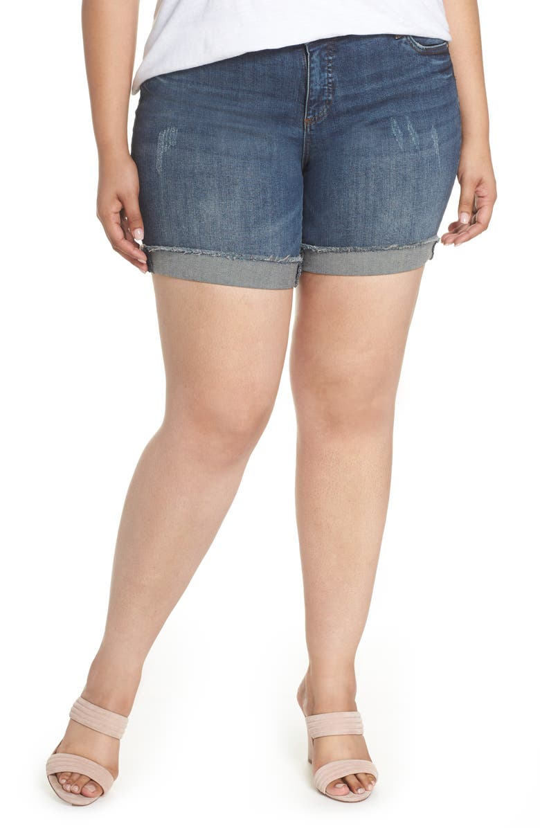 KUT FROM THE KLOTH Catherine Boyfriend Cutoff Shorts, Main, color, IMPRESSED