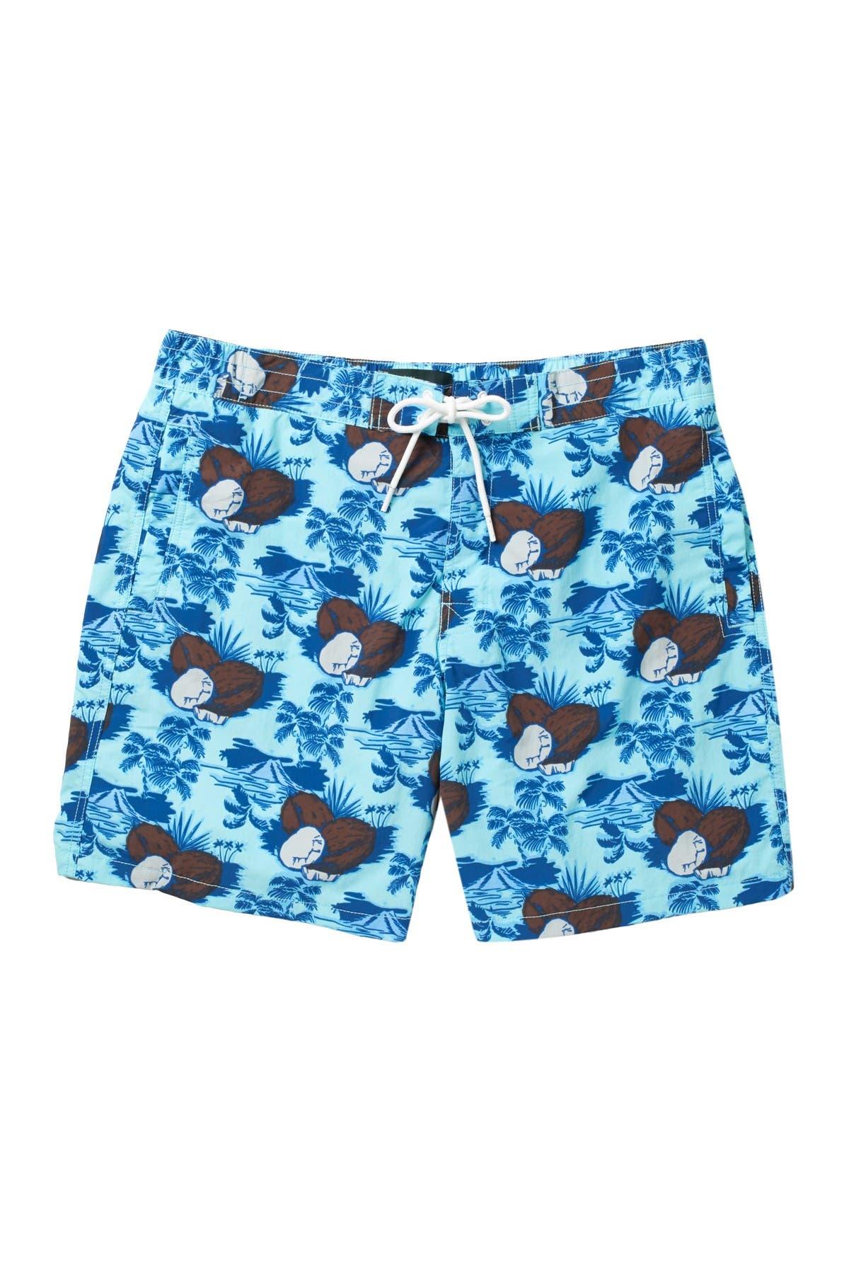 Image of RODD AND GUNN Topical Print Swim Shorts