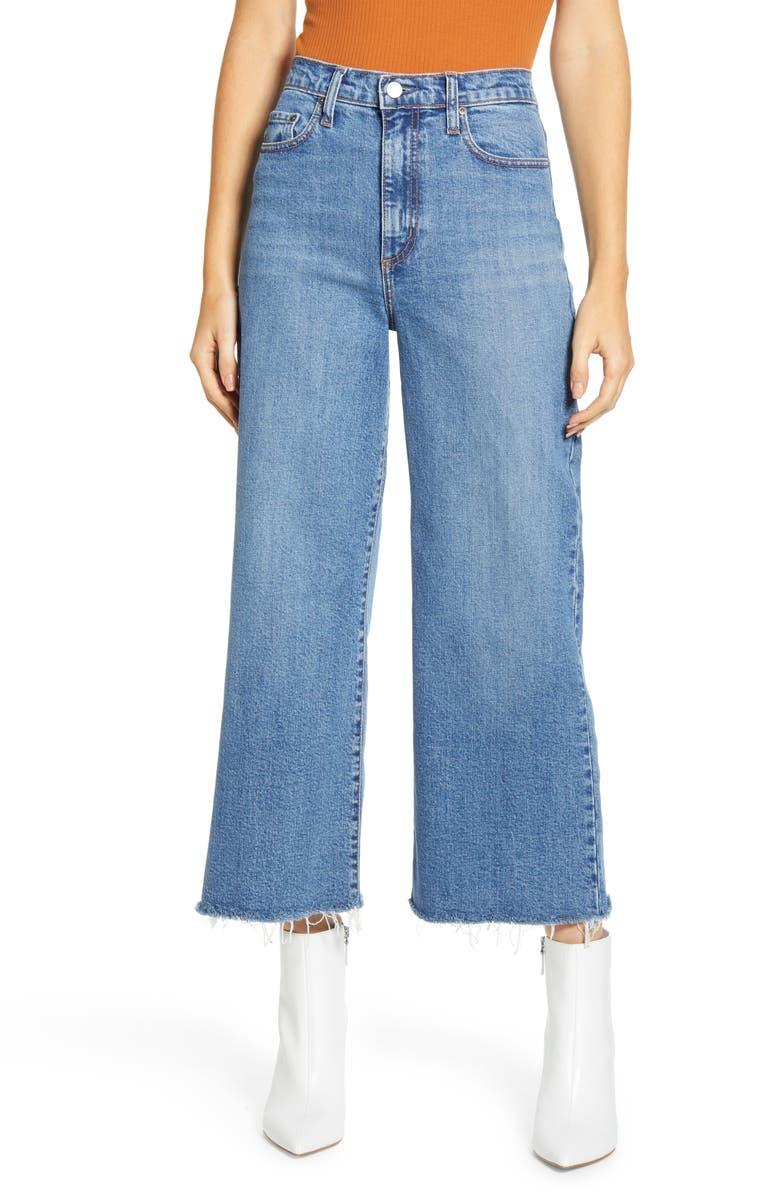 NOBODY DENIM Milla High Waist Fray Hem Crop Wide Leg Jeans, Main, color, BELLO