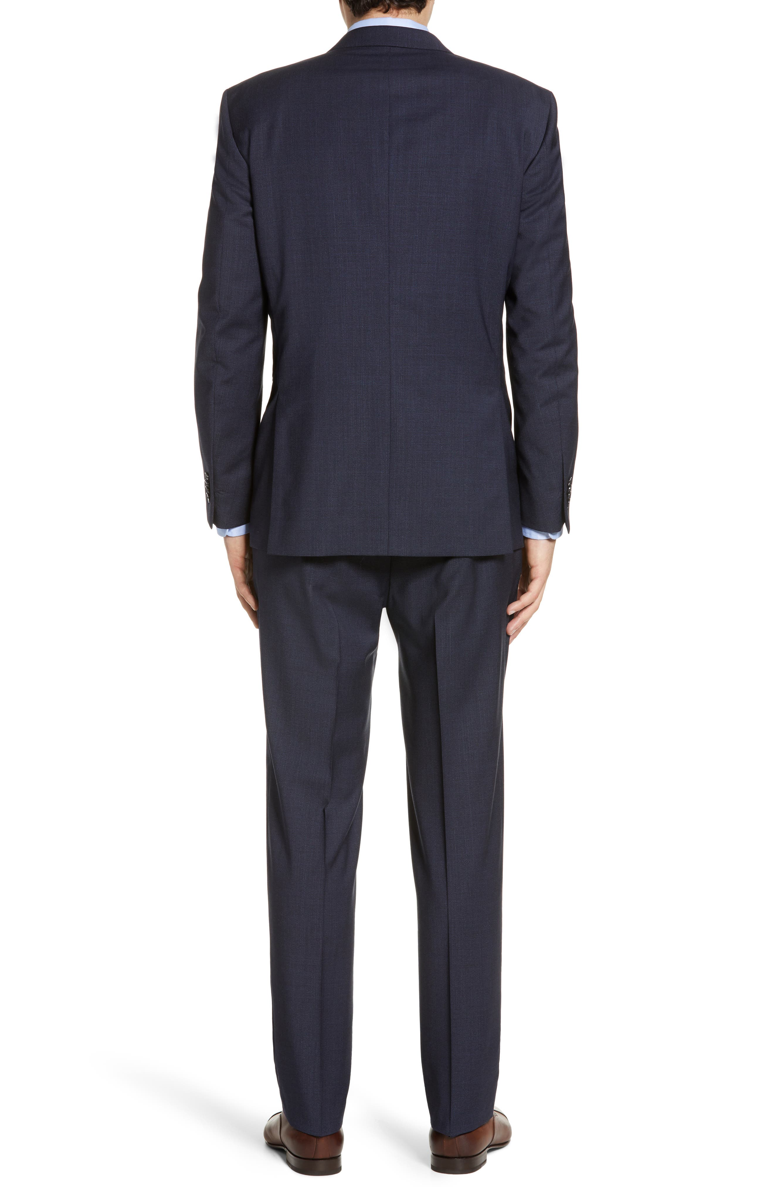 ,                             Flynn Classic Fit Check Wool Suit,                             Alternate thumbnail 2, color,                             NAVY