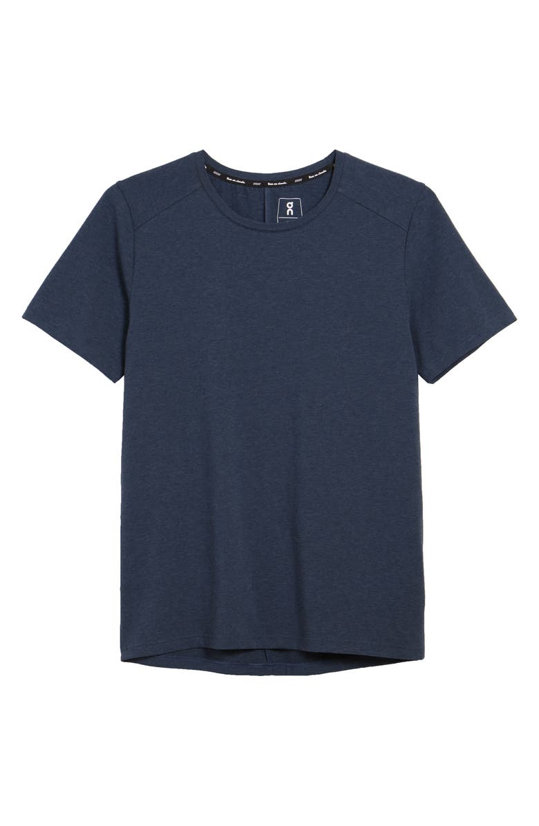 ON Stretch Organic Cotton T-Shirt, Main, color, NAVY