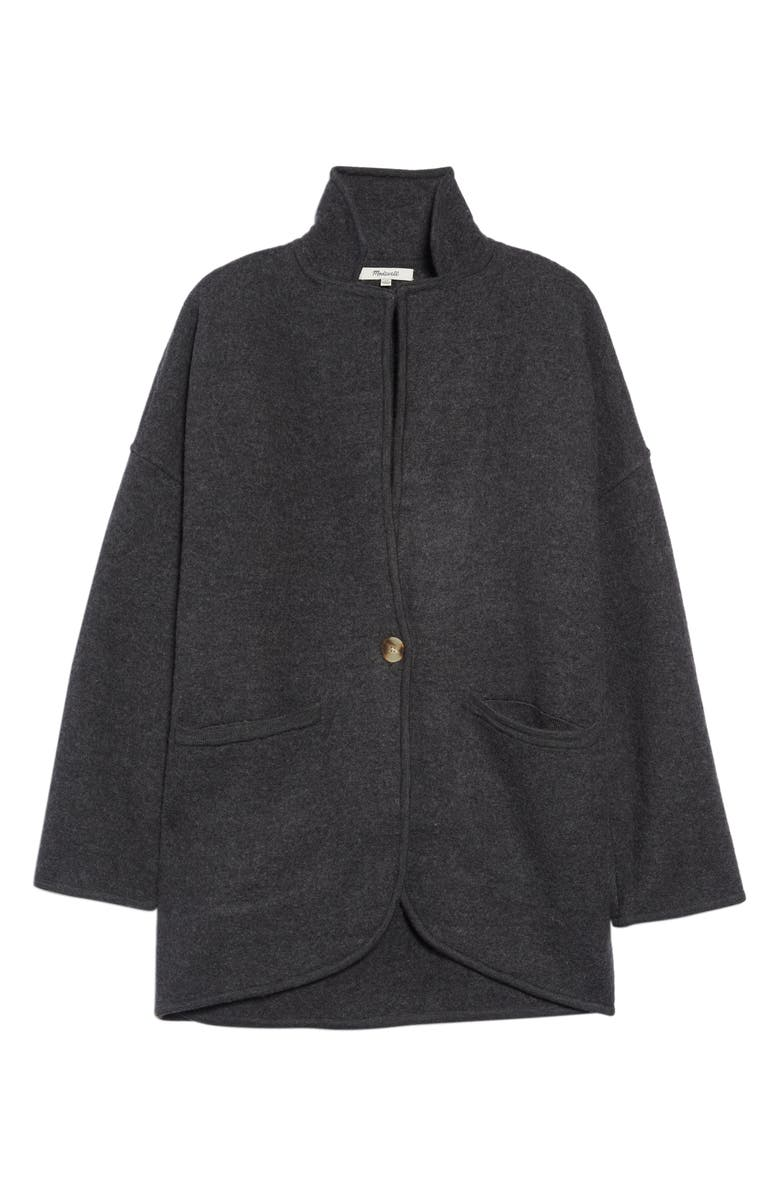 MADEWELL Saville Sweater Blazer, Main, color, HTHR CARBON