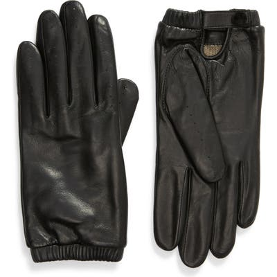Rachel Parcell Leather Driving Gloves, Black (Nordstrom Exclusive)