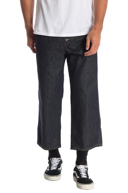 Image of Diesel Flip Comfort Cropped Straight Leg Jeans