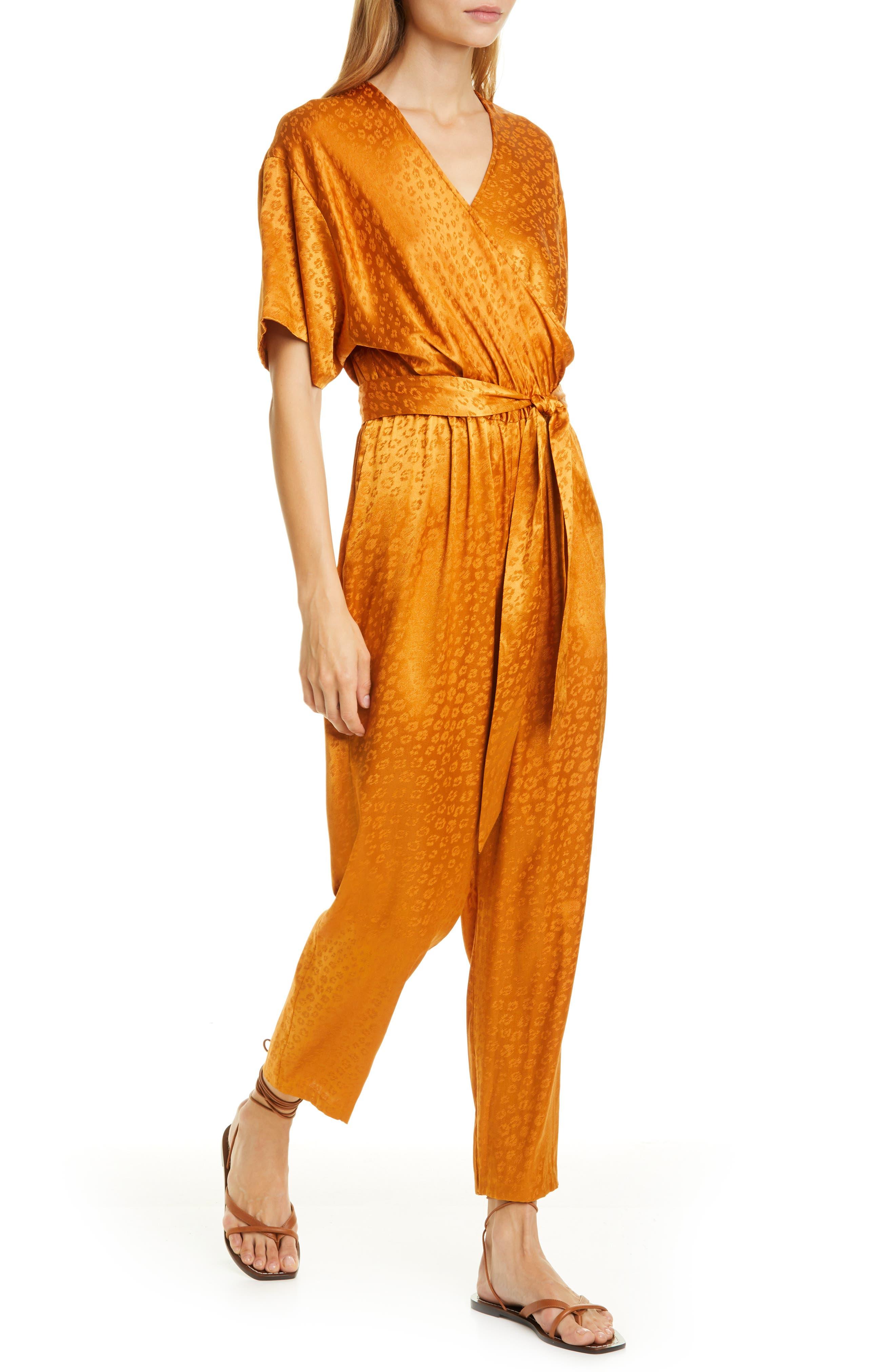 70s Jumpsuit | Disco Jumpsuits – Sequin, Striped, Gold, White, Black Womens Joie Tau Jumpsuit $348.00 AT vintagedancer.com