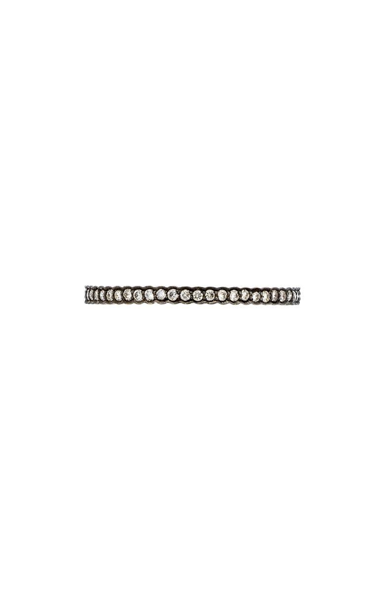 SETHI COUTURE Black Rhodium Diamond Stacking Ring, Main, color, 711